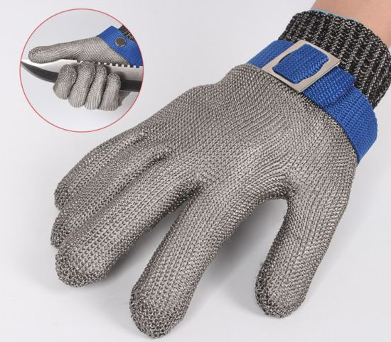 Cut Resistant Glove-Stainless Steel Wire Metal Mesh Butcher Safety Work Glove for Meat Cutting, Fishing pictures & photos
