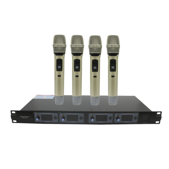 Professional 4 Channel UHF Wireless Handheld Microphones
