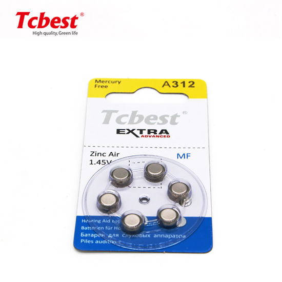 Factory Best Price A312 A13 A10 A675 Button Cell 160mAh 1.45V OEM ODM Hearing Aids Batteries