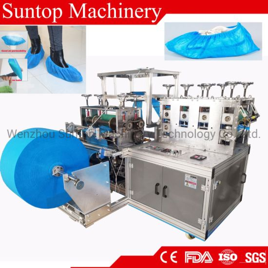 Automatic PP Non Woven Anti-Skid Shoe Cover Making Machine