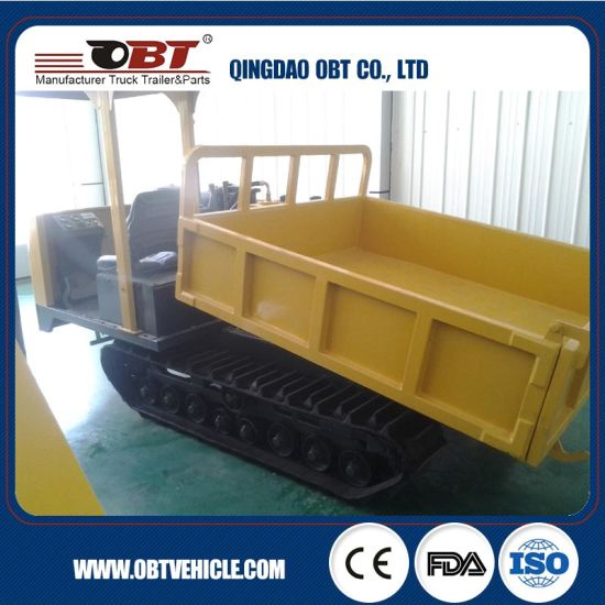 Obt 3 Ton Hydraulic Site Dumper with Lift Platform pictures & photos