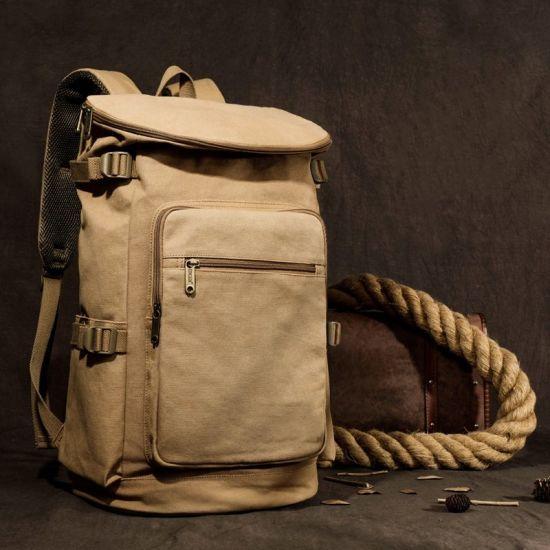Shoulder Bag Vintage Casual Large Outdoor Travel Laptop School Bags Canvas Backpack for Men Women