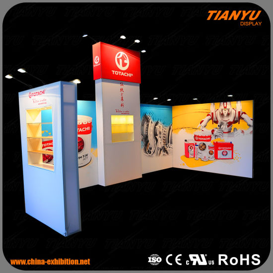 Aluminium Frame with Textile Printing Customized Trade Show Exhibition Booth Stall