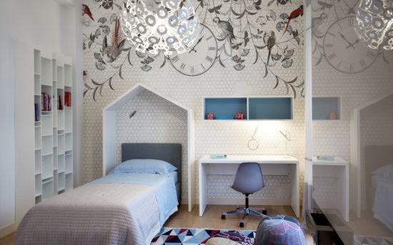 China Villa Home Modern Teenage Bedroom, White Bedroom Furniture Sets With Desk