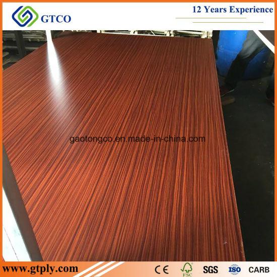15mm Hardwood Core E1 Glue Wooden Color Decoration Plywood Melamine Laminated Plywood