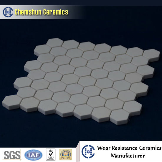 Wear Resistant Ceramic Hexagonal Mosaic Tile Mesh Backing