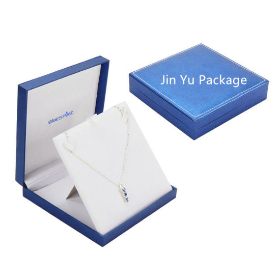 Large Blue Color Plastic Leather Paper Gift Jewelry Packing Box Set pictures & photos
