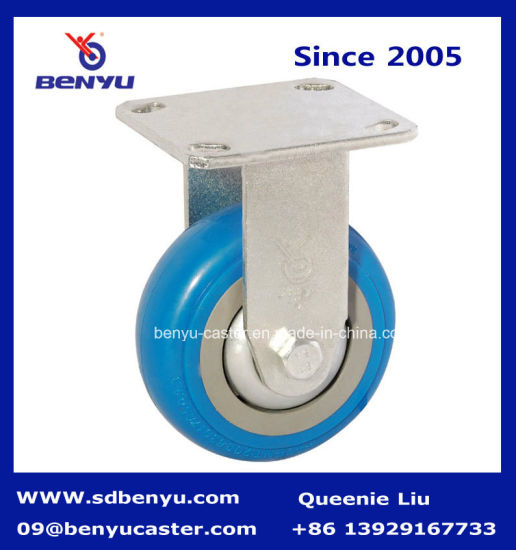 European Style Industrial Blue PU Caster Wheel