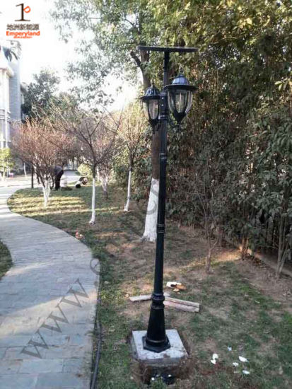 10W Solar Garden Light with Double Heads (DZ-TT-212) pictures & photos