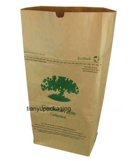 Leaf Trash Outdoor Kraft Paper Bag Leaf and Lawn Refuse Trash Paper Bags pictures & photos