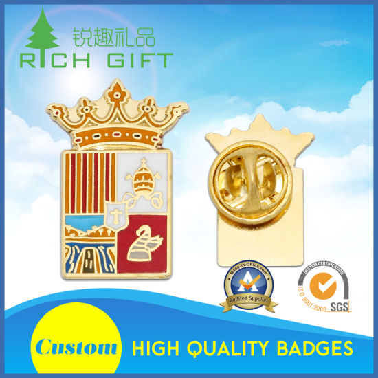 Fashionable/Custom/Stamped/Enamel Lapel Pin Shield Tissus World Badge No Minimum pictures & photos