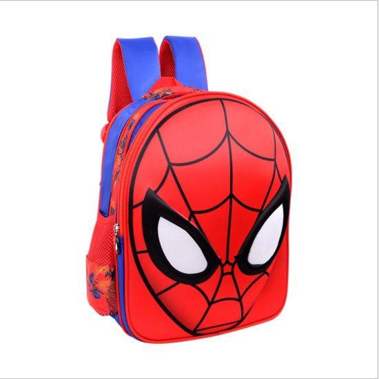 af0a5ead9a China 3D Hot Sale Backpacks Spiderman Masks Bag Kids Schoolbags ...