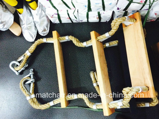 Marine Safety Wooden Pedal Pilot Rope Ladder pictures & photos