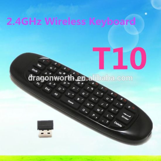 T10 C120 Air Flying Mouse 2.4GHz Wireless Keyboard for Android TV Box