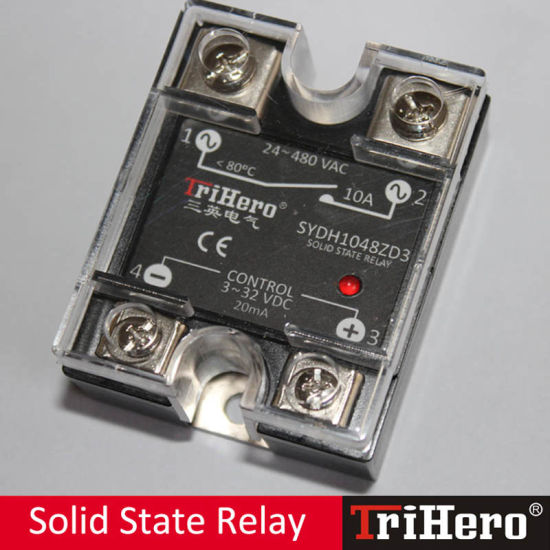 10A DC-AC Single Phase Solid State Relay, SSR