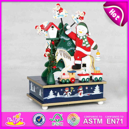 2015 wooden christmas music toy products christmas decorations music box high quality custom song music box wholesale w07b016a - Wooden Christmas Decorations Wholesale