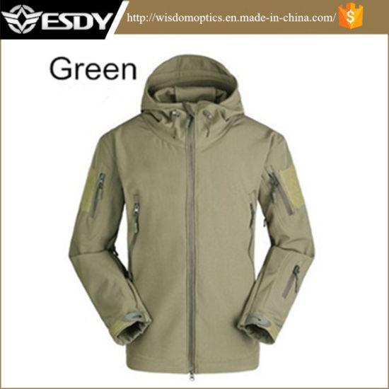 Hoodie Camping Waterproof Coat Sports Military Jacket Green