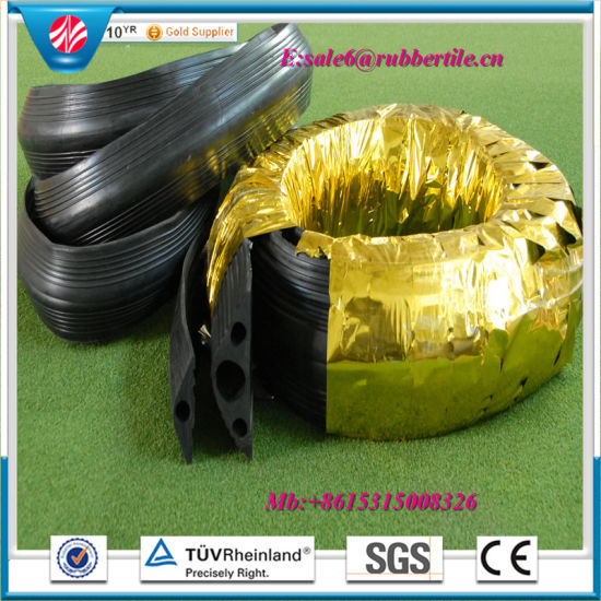 Heavy Duty One-Channel Rubber Cable Protector, Rubber Cable Coupling pictures & photos