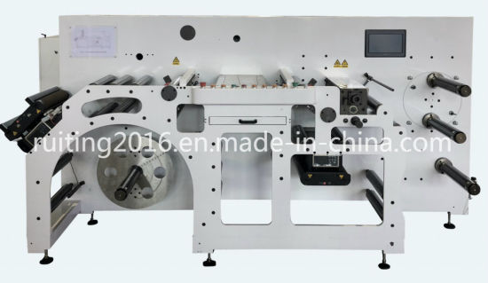 Rton-370 Fully Automatic High Speed Slitting Turrent Rewind Machine with Inspecting System