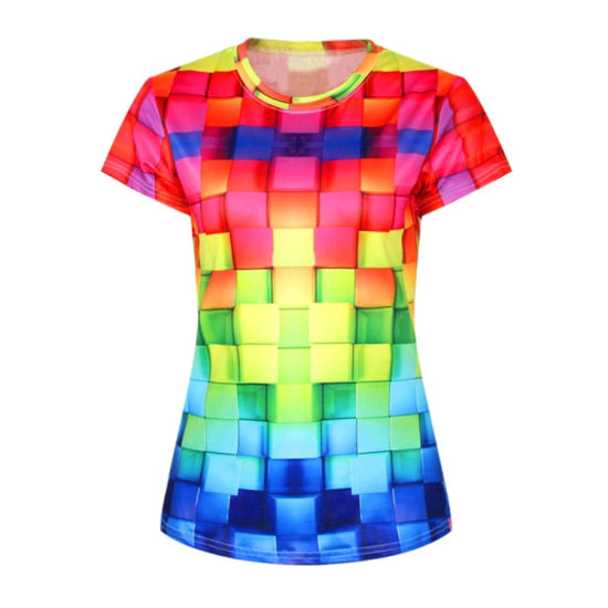 Cotton Digital Fashion Design Women T-Shirt