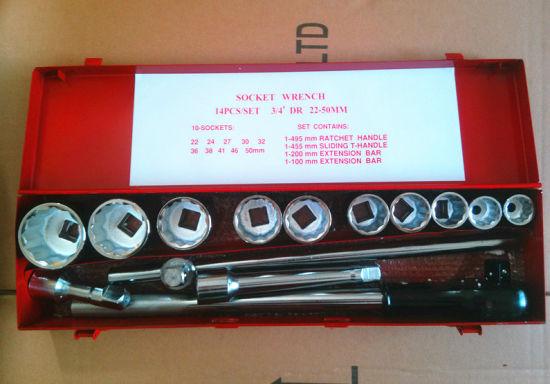 "14PCS 3/4""Dr Professional Iron Case Socket Set (FY1414A)"