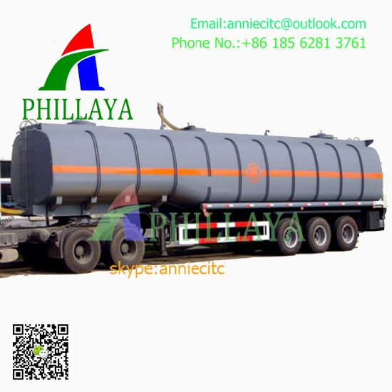Tri-Axles Capacity 35-60cbm Asphalt Bitumen Heating Tank Semi Trailer pictures & photos