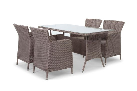 China Pvc Plastic Poly Rattan Synthetic Sofa Dining Set Wf 1710103