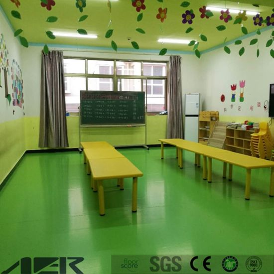 Pvc Flooring For Kindergarten Using Nursery School Floor From China Supplier