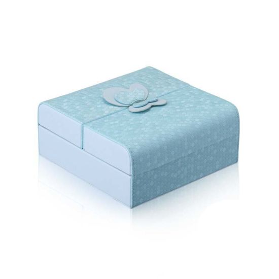 Square Candy Color Jewelry Storage Box With Lovely Butterfly Decor New  Fashion PU Leather Jewelry Organizer Boxes