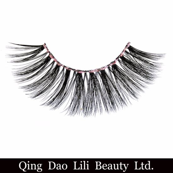 58acf283de4 Wholesale Private Label Shinny Luminous Eyeline 3D Faux Mink Eyelashes Hair  Eyelashes in Qingdao pictures &