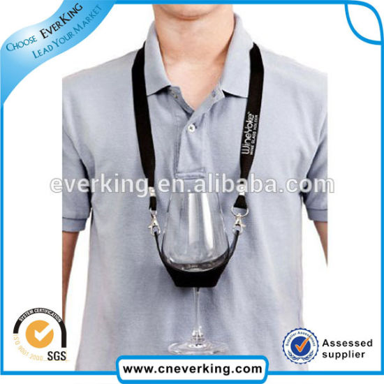 Promotional High Quality Wine Cup Holder Lanyard with Custom Logo pictures & photos