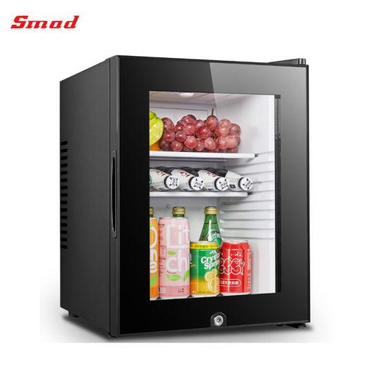 40liter Glass Door Hotel Mini Bar Fridge Refrigerator with Lock