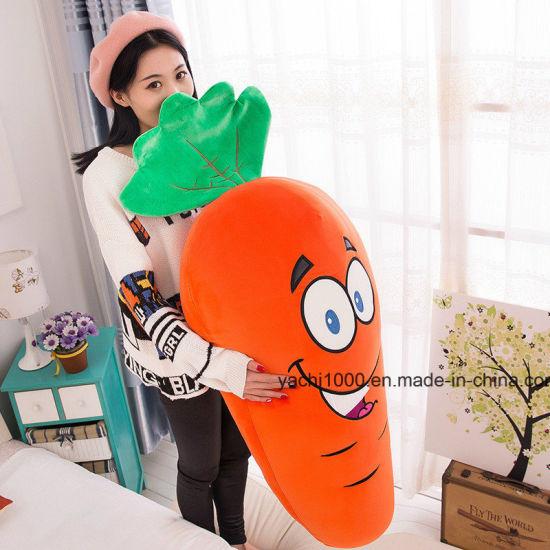 Plush Plant Pillow Stuffed Toy Soft Carrot Cushion