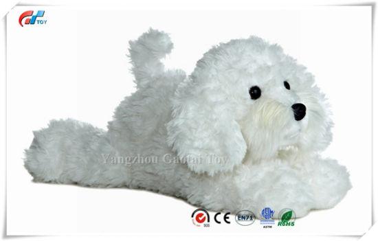 """Flopsie Bonita Plush Dog 12"""" White Stuffed Soft Dog Toy"""