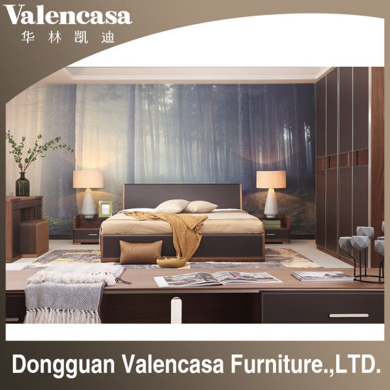 Hotel Home Living Room Bedroom Solid Wood Leather Modern Furniture