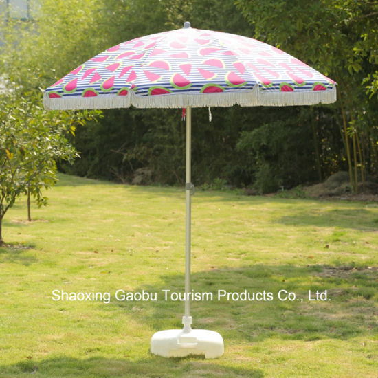 Alu Beach Umbrella with Tassel with Tilt UV Protection pictures & photos
