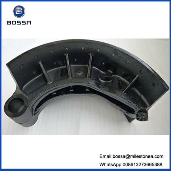 Truck Part Casting Oil Brake Shoe 220 mm 15holes for Nissan pictures & photos