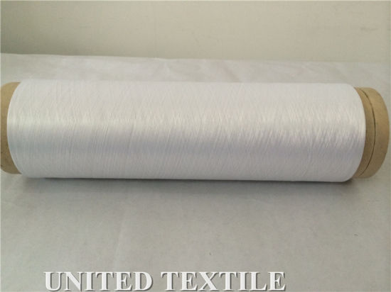 100% Polyester Yarn (with 100D/36F SD Bleach White NIM) for Weaving pictures & photos
