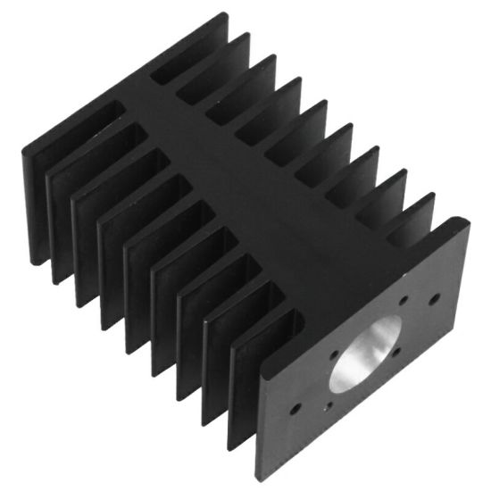 Black Anodized Aluminium Heatsink with CNC Machining pictures & photos