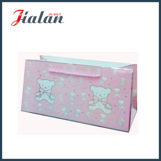 Lovely High Quality Ivory Paper Gift Bag with Hot Stamping