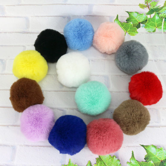 6cm Soft Faux Fur Pompom Fake Fur POM Poms Faux Rabbit Fur Ball pictures & photos