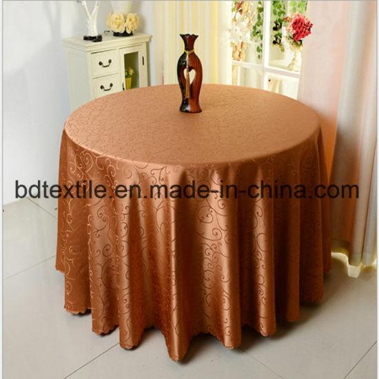 China 100polyester jacquard round fancy wedding table cloth china 100polyester jacquard round fancy wedding table cloth junglespirit Gallery