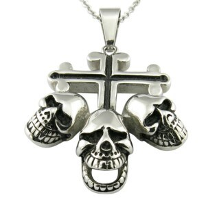 Biker Cross Religious Necklace Metal Pendant pictures & photos