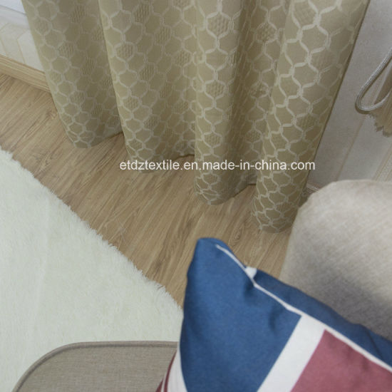 High Quality Polyester Shrinkage Yarn Curtain Fabric pictures & photos