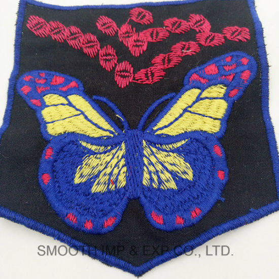 Wholesale Colorful Butterfly Handwork Cotton Ethnic Embroidery Patch Garment Accessory pictures & photos