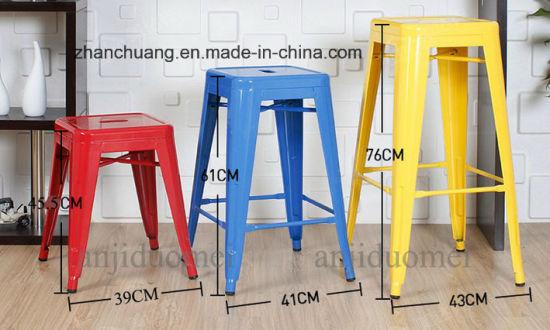 Professional Different Color Powder Coated Design Metal Bar Stool