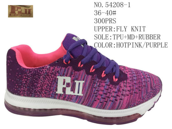 Two Colors Men & Lady Shoes Fly Knit Sport Stock Shoes