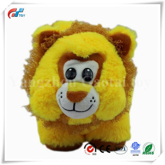 Hot Selling Cute Round Shape Animal Soft Lion Toy