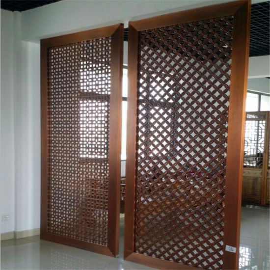Hot Sale Office Partition Screen PVD Color Metal Room Divider pictures & photos