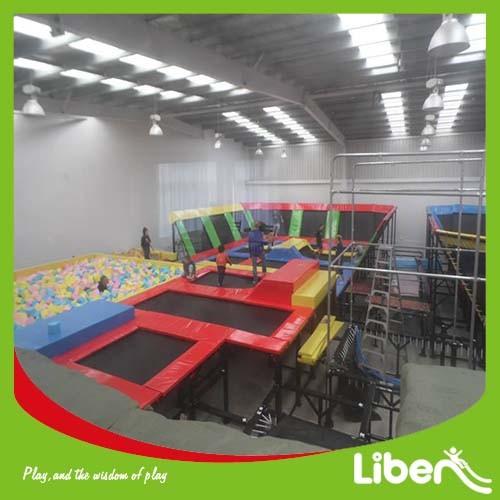 2015 Big Amusement Equipment Indoor Trampoline Park of 500 Sqm